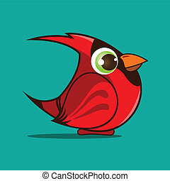 cardinal bird cartoon