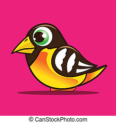 oriole cartoon eps 10 vector