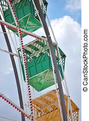 Ferris wheel - Detail of a ferris wheel in the sky. Popular...
