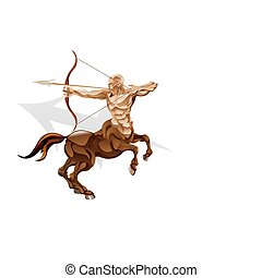 Sagittarius the archer star sign - Illustration representing...
