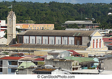 Pointe-a-Pitre, Guadeloupe, Caribbean - View over the roofs...