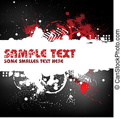 Grunge background with blots and place for your text (black,...