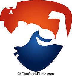 Gym symbol - symbols design for the gym, vector