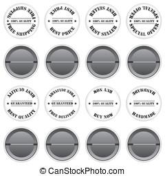Badges sale label illustration