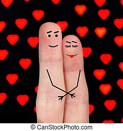Live fingers - The man and the woman expressed in the form...