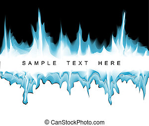 Winter abstract background with place for your text