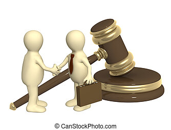 Successful decision of a legal problem - Conceptual image -...