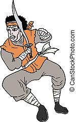 Soldier ninja - Creative design of soldier ninja