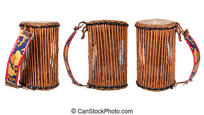nigerian drum isolated on white background