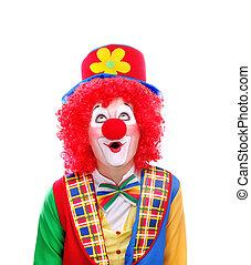 clown, regarder, copie, espace, secteur