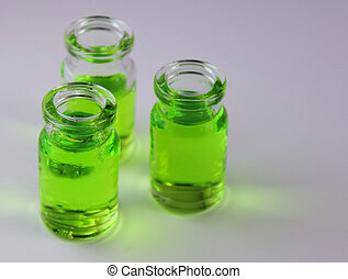 Vials of Chemicals in a Science Lab