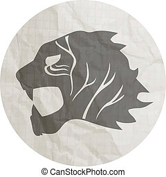 Tiger paper - Creative design of tiger papel
