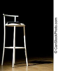 Stool on theater scene - One stool on theater scene isolated...