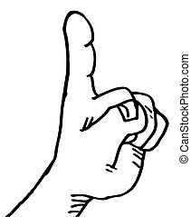 Finger up cartoon - Creative design of finger up cartoon