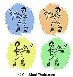 Four cartoon - Creative design of four cartoon