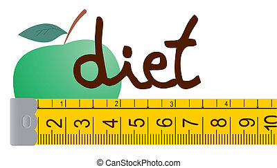Diet apple - Creative design of diet apple