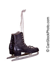 old black ice skates
