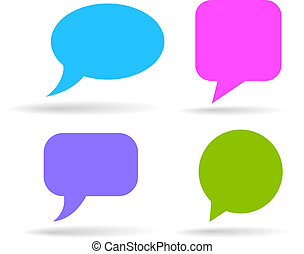 Speech bubbles set isolated on white
