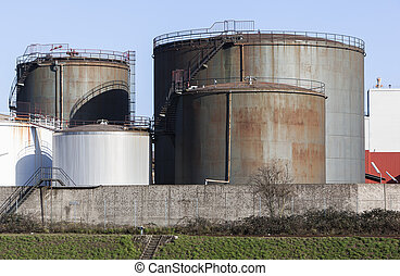 Fuel storage tank - Image shows an buildup with fuel storage...