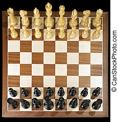 Chess - complete Chess game with board and wooden figures
