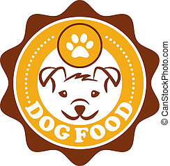 Dog Food Icon - Circular design of a Dog Food Icon with a...