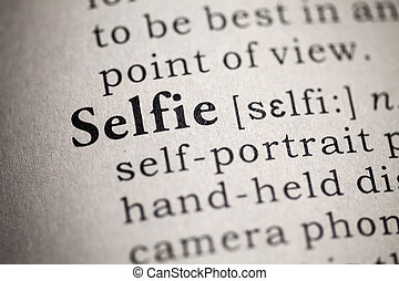selfie - Fake Dictionary, Dictionary definition of the word...