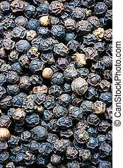 Pile of Whole Black Pepper Drupes Food Spice