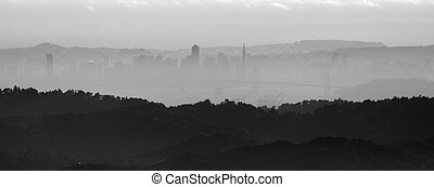 View of San Francisco skyline from Mt. Diablo