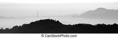 View of the Golden Gate Bridge from Mt. Diablo
