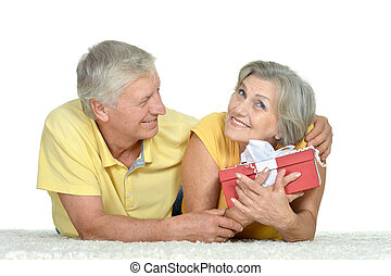 happy older couple spending time together
