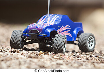 Horizontal remote controlled electric truck with plastic...