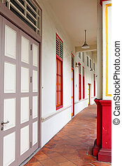 Tradition shop house in Singapore