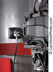 television video camera - close up of studio video camera in...