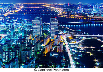Downtown cityscape of Seoul