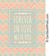 Chevron Pattern Valentine's Day Des