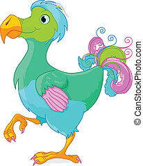 Dodo - Illustration of cute Dodo bird