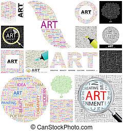 Art Concept illustration - Art Word cloud illustration...