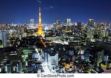 Tokyo ciy at night