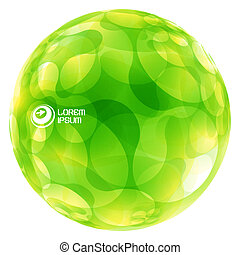Abstract green globe. Vector illustration.