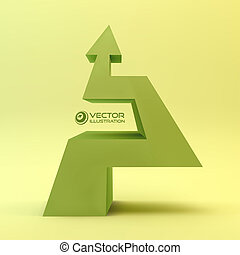 3D arrow. Vector illustration.