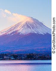 Sunrise of mountain Fuji