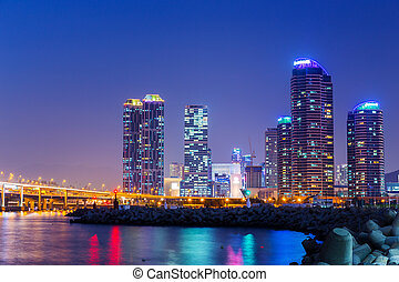 Busan city at night
