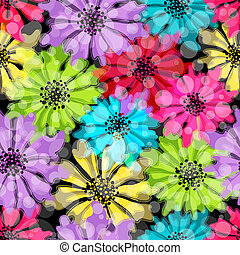 Seamless floral colorful pattern - Seamless floral spring...