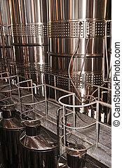 Wine making equipment - Wine making vats and equipment in...