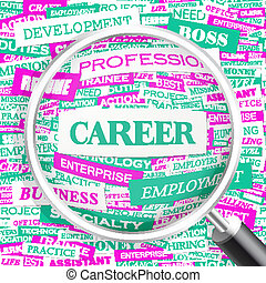 CAREER Concept illustration Graphic tag collection Wordcloud...