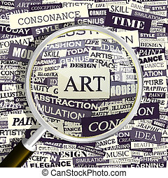 ART. Concept related words in tag cloud. Conceptual...