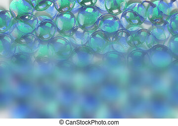 Backround of Glass Beads with Copy Space