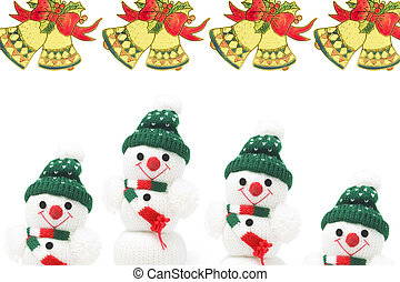 Snowman Soft Toys and Christmas Bells