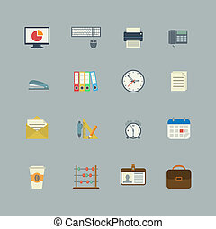 Business collection of flat stationery supplies