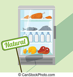 Natural foods in refrigerator - Natural foods of chicken...